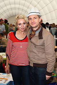 With former partner Amanda Abbington