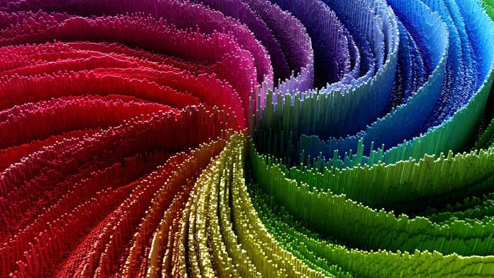 abstract 3d multicolor vortex