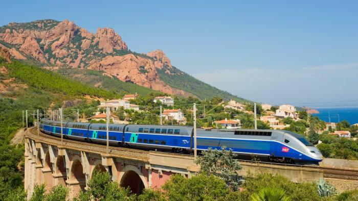 A high-speed train or 'train à grande vitesse'