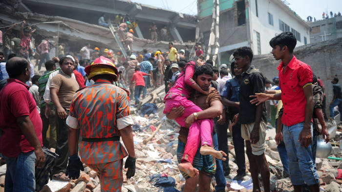 Scores dead in Bangladeshi garment factory collapse   Financial Times