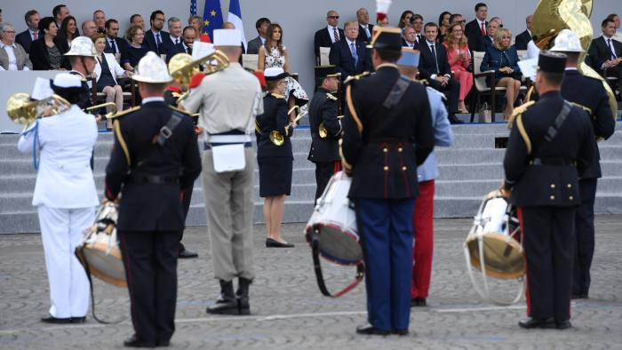 Military bands trumpet the might and status of their nation