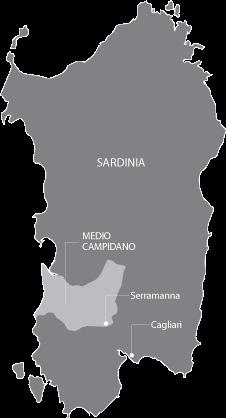 Map: Sardinia in Italy
