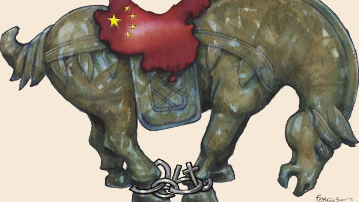 James Ferguson illustration, China horse