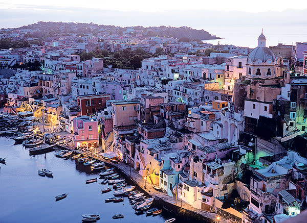 The Italian island of Procida which featured in 'Il Postino' and 'The Talented Mr Ripley'