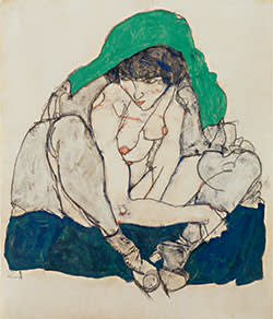 'Crouching Woman' (1914) by Egon Schiele