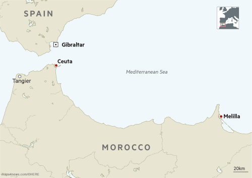 Map Of Spain Gibraltar And Morocco.Surge In Morocco Migrants Raises Alarm In Spain Financial Times