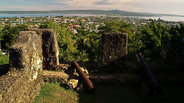 The view from the 'kraton', or fort, in Bau-Bau, Buton