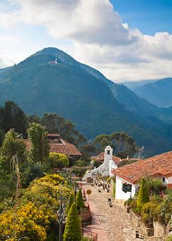 Monserrate Peak dominates Bogotá