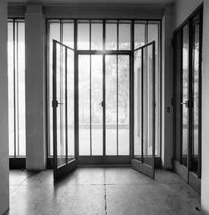 The doors with handles designed by Wittgenstein