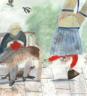 Illustration depicting old age