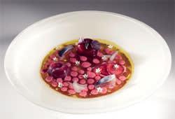 Cherries, eel and almonds