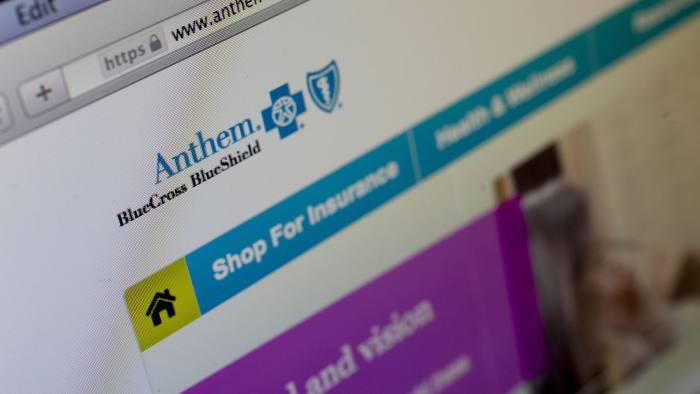 The Anthem Inc. website is displayed on a laptop computer for a photograph in Washington, D.C., U.S., on Thursday, Feb. 5, 2015. Anthem Inc., the second biggest U.S. health insurer by market value, said hackers obtained data on tens of millions of current and former customers and employees in a sophisticated attack that has led to a Federal Bureau of Investigation probe. Photographer: Andrew Harrer/Bloomberg