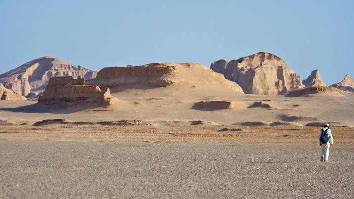 Desert Scenery of Kaluts near Kerman Iran