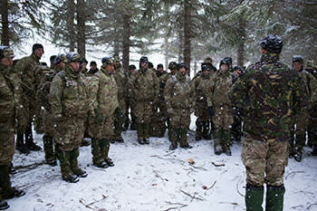 British Royal Marines train with Nato forces in Bardufoss, Norway, March 2013