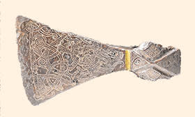 A silver-inlaid axehead from the 900s
