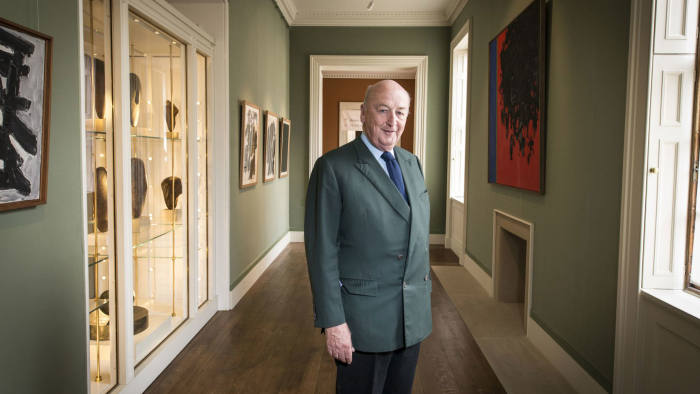 The duke with some of his collection