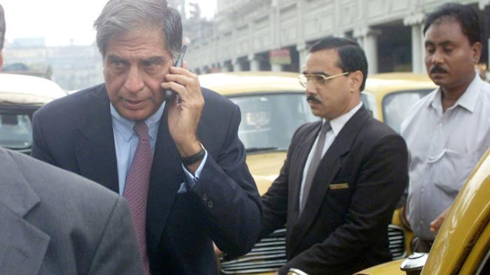 Ratan Tata, left, in Kolkata in 2000
