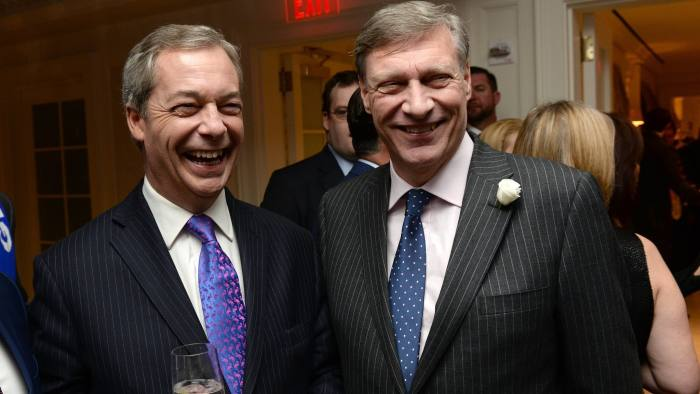 Ukip MEP Nigel Farage and Ted Malloch at an event in Washington last month