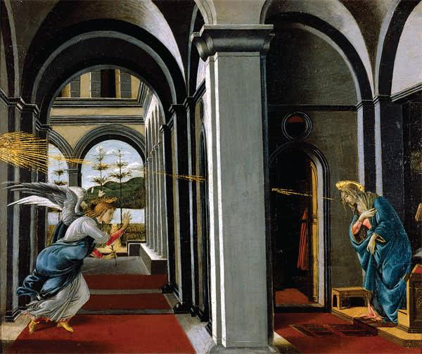 Sandro Botticelli's 'The Annunciation' (c1490-1495)