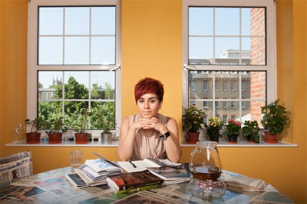 Mania Akbari, at home in London
