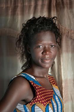 Pamela Anena at her home in Gulu