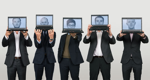 Cyber response team, PwC, London. From left: Kris McConkey, cyber team leader; James Rashleigh, cyber security director; Jay Choi, insider threat analyst; Chris Doman, new recruit; Dan Kelly, reverse engineering investigator
