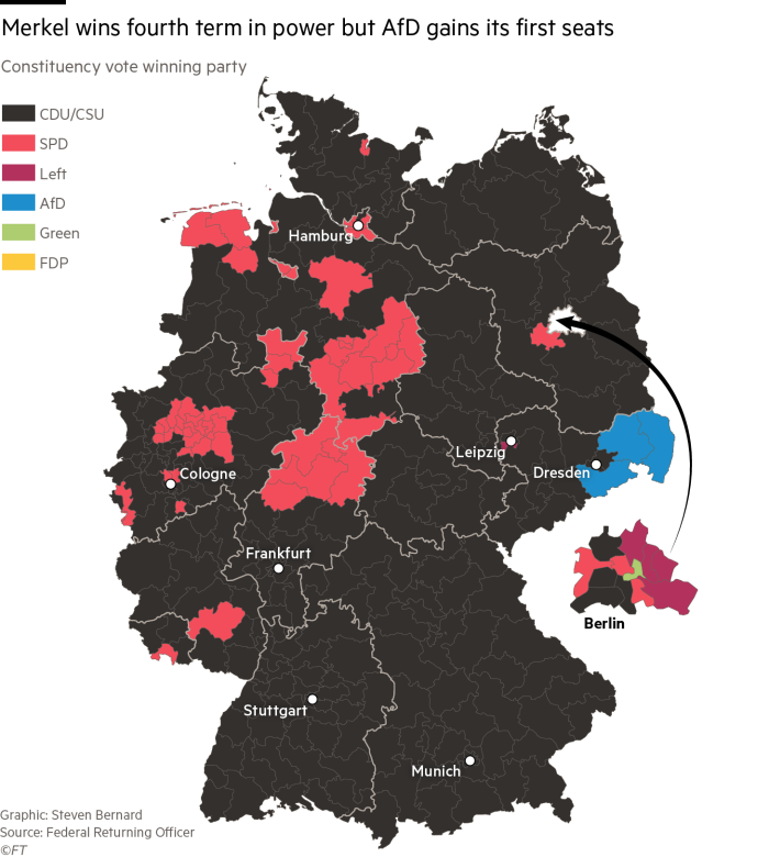 Germany's election results in charts and maps   Financial Times on geographical map of germany, geographic map of germany, regional map of germany, social map of germany, geological map of germany, physiological map of germany, strategic map of germany, topological map of germany, industrial map of germany, linguistic map of germany, tactical map of germany, topographical map of germany, operational map of germany, religious map of germany, language map of germany, ethnic map of germany, commodities map of germany, fiscal map of germany, global map of germany, economic map of germany,
