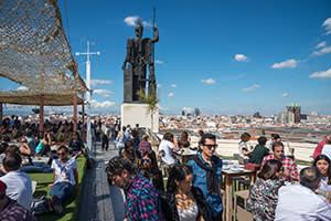 The Tartan Roof terrace at Círculo de Bellas Artes