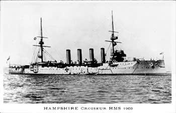 HMS Hampshire at sea in 1903