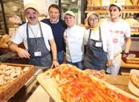 17 Dec 2013, Florence, Italy --- Opening of the new store Eataly, the creature of Oscar Farinetti, Matteo Renzi, Florence Pictured: Eataly, Matteo Renzi --- Image by © New Press Photo/Splash News/Corbis