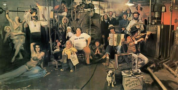 Cover of the 1975 double album of The Basement Tapes