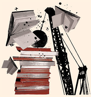 Wrecking ball illustration by Shonagh Rae