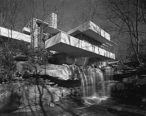 Fallingwater, 1936, by Frank Lloyd Wright
