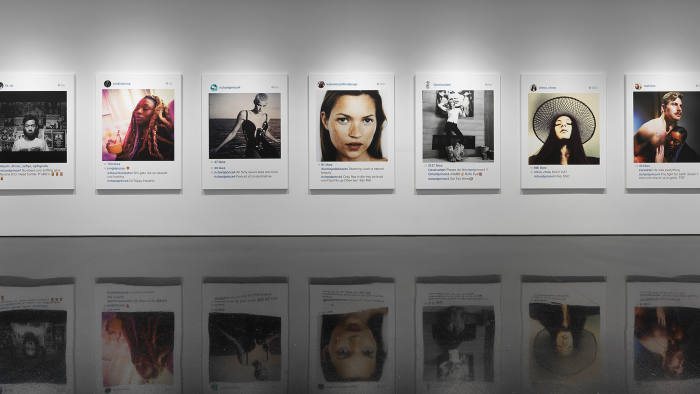 Installation view: Richard Prince: New Portraits at Gagosian Gallery
