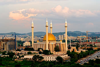 Nigeria National Mosque in the capital Abuja