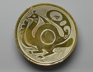 Bowl with bird decoration, Iraq, ninth/10th century
