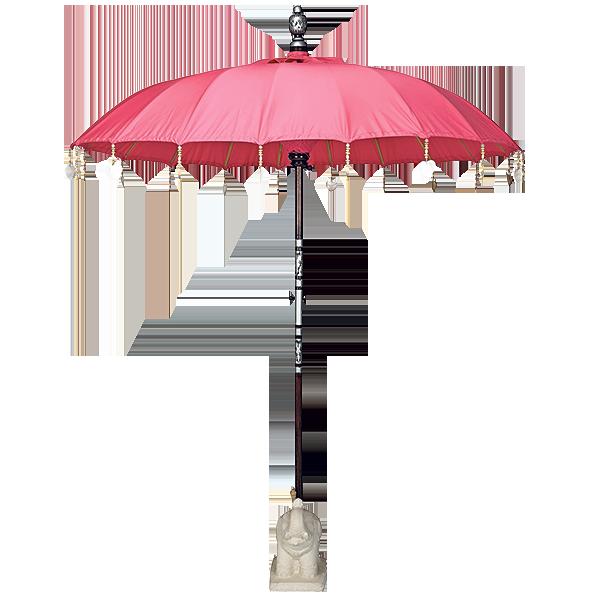 Hot pink sun umbrella, £310, indiangardencompany.com