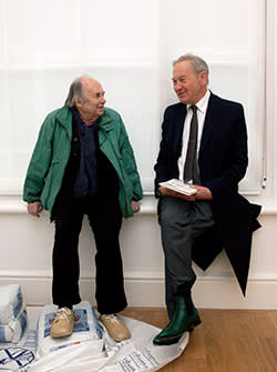 Quentin Blake with Simon Schama