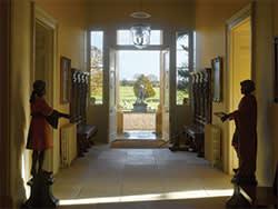 Entrance hall at Sibton Park