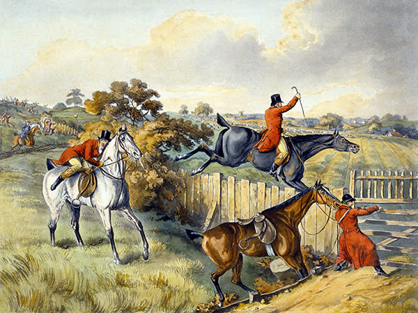 The Leap from 'Foxhunting' by Thomas Sutherland (1785-1838)