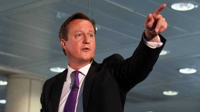 """Prime Minister David Cameron speaks during a visit to Scottish Widows offices in Edinburgh, where he made an impassioned plea to keep Scotland part of the union, saying he would be """"heartbroken"""" if the UK was torn apart. PRESS ASSOCIATION Photo. Picture date: Wednesday September 10, 2014. See PA story REFERENDUM Main. Photo credit should read: Andrew Milligan/PA Wire"""