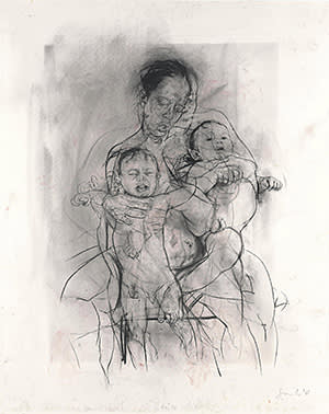 """Jenny Saville's """"Mother and Children"""""""