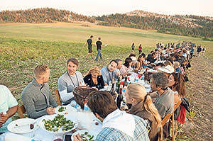 Delegates at a conference there last summer, dining at a table seating 900
