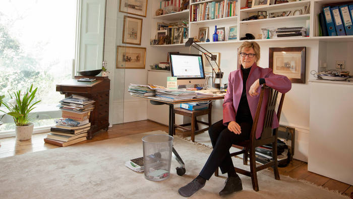 Dame Sally Davies in her office at home in north London