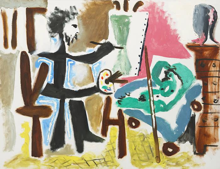 Pablo Picasso's 'Le Peintre et son modèle II' at the ICA Miami