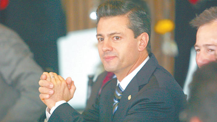 Mexico's President in a meeting