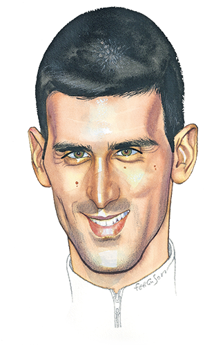 Novak Djokovic illustration by James Ferguson