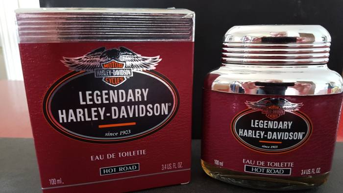 Harley Davidson perfume - Exhibits from the Museum of Failure in Sweden set up by Samuel West credit: Sofie Lindberg