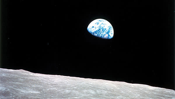 Earthrise, taken by the Apollo 8 astronauts on December 24 1968