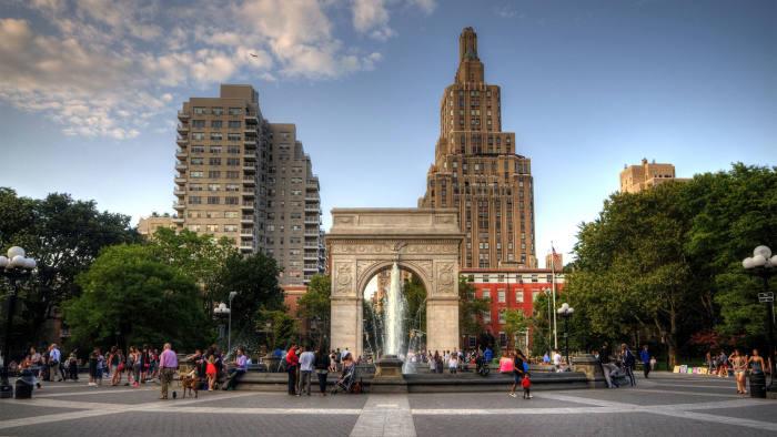 Washington Square Park, site of New York University's main campus